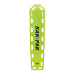 Bak-Pak Ultra Backboard, without Pins, with Straps, 72inch x 16inch x 3/4inch, Lime Green