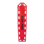 Bak-Pak Ultra Backboard, without Pins, with Straps, 72inch x 16inch x 3/4inch, Red