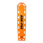 Bak-Pak II Backboard, without Pins, with Straps, 72inch x 16inch x 1.3inch, Orange