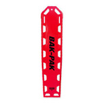Bak-Pak II Backboard, without Pins, with Straps, 72inch x 16inch x 1.3inch, Red