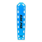 Bak-Pak II Backboard, with Pins and Straps, 72inch x 16inch x 1.3inch, Blue