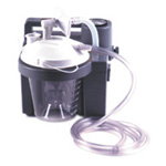 Homecare Suction Unit, Adj Flow Regulator, Gauge, 800cc Bottle, AC/DC Battery, Portable