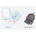 PadPro Multifunction Defib Pads, Radiotransparent, Medtronic Connector, 6in x4.25in, Adult/Child Greater than 10kg
