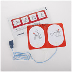 Defib Pads, Disposable, for Heart-Start FR2 and MRx, Above 55 lbs., Child/Adult, 5pr/bx