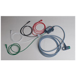 ECG Trunk Cable w/4 Wire Limb Leads, 12 Lead Capability, Rt Angle Connector, 8 ft