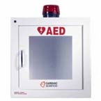 AED Wall Cabinet, Surface Mount with Alarm and Strobe, Security Enabled
