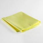 Emergency Blanket, Heavy Duty, Fluid Impervious, Yellow, 54inch x 80inch