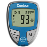CONTOUR Blood Glucose Monitoring System, incl Pouch and User Guide