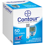 Contour Blood Glucose Strips, 50/Box