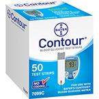 Contour Blood Glucose Strips, 50/Box
