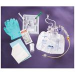Foley Tray, w/5cc Anti-reflux Device, 10cc Syringe w/Sterile Water, Drain Bag, 14 Fr