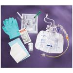 Foley Tray, w/5cc Anti-reflux Device, 10cc Syringe w/Sterile Water, Drain Bag, 16 Fr