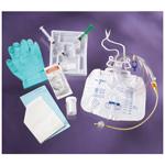 Foley Tray, w/5cc Anti-reflux Device, 10cc Syringe w/Sterile Water, Drain Bag, 18 Fr
