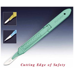 Futura Safety Scalpel, Disposable, Auto Retractable, Green, Number 10