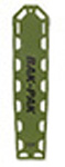 Bak-Pak Ultra Backboard, with Pins and Straps, 72inch x 16inch x 3/4inch, Olive Drab