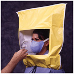Hood for the Bitrex Fit Test, Fitted over N95 Particate Respirator