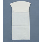 Containment Bag, White Opaque w/o Hand Protection, Rigid Collar, Inner Seal, 22oz, 650cc *Discontinued*