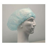 Bouffant Hair Cover w/ Elastic Band, 24in, Blue