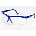 Genesis Safety Glasses, Uvextreme Anti-Fog coating, Vapor Blue Frame, Clear Lens