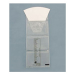 Containment Bag, Clear Graduated w/o Hand Protection, Rigid Collar, Inner Seal, 1000cc, 1200/Case *discontinued*