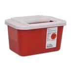 Sharps-A-Gator Sharps Container w/Sliding Lid, Red, 4 Quart
