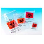 TransVelope Biohazard Specimen Bag, Outside Pocket, Zipper Seal, 6inch x 9inch