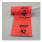 Biohazard Labels, 3inch x 3inch, Orange w/Black, 500/Roll