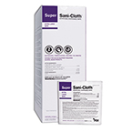 Super Sani-Cloth Germicidal Disposable Wipes, Alcohol, XL Packets, 11 1/2inch x 11 3/4inch