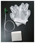 Suction Catheter Kit, includes Coiled Graduated Catheter, Gloves, and Pop-Up Cup, 14 French