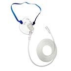 Oxygen Mask, Non-Rebreathing, Adult, w/ No Safety Vent, 7ft Kink Resistant Tubing