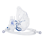 Curaplex Select Nebulizer, Small Volume, Hand Held, with Adult Aerosol Mask, 7ft Kink Resistant Tubing