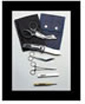 Holster, EMS Rescue Set, with Quick Clip, Shears, Forceps, Penlight and Knife, Black
