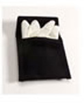 *MFG Discontinued*Glove Case, Deluxe, Nylon, with Quick Clip, Black, 4 1/4inch x 3 7/8inch x 3/4inch