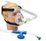 O2 RESQ BiTrac ED Full Face Mask w/Head Strap, CPAP w/10cm Valve, w/o Flow Generator, Adult LG