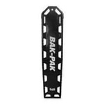 Bak-Pak Ultra Backboard, without Pins, with Straps, 72inch x 16inch x 3/4inch, Black