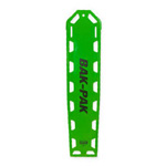Bak-Pak Ultra Backboard, with Pins and Straps, 72inch x 16inch x 3/4inch, Lime Green
