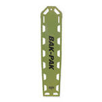 Bak-Pak II Backboard, with Pins and Straps, 72inch x 16inch x 1.3inch, Olive Drab