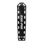 Bak-Pak Ultra Backboard, with Pins and Straps, 72inch x 16inch x 3/4inch, Black