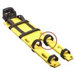Replacement Leg Strap, for Miller Full Body Splint/Litter, Black
