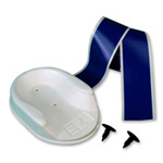 EZ LIFT Head Bed and Strap Set, White with Blue Tape Straps