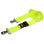 BioThane G1 Restraint Strap, 2 pc, 5ft, Swivel Speed Clip Ends, Metal Push Button Buckle, Yellow