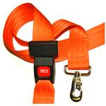 BioThane G2 Restraint Straps, Orange, 5ft, 2 Piece w/Auto Buckle and Speed Clip