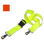 BioThane G1 Restraint Strap, 2 pc, 5ft, Swivel Speed Clip Ends, Plastic Side Release Buckle, Orange