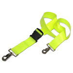 BioThane G1 Restraint Straps, 2 pc, 5ft, Swivel Speed Clip Ends, Plastic Side Release Buckle, Yellow