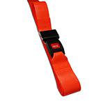 BioThane G1 Restraint Strap, 1 pc, 9ft, Metal Push Button Buckle, Orange