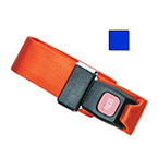 Straps, Nylon, Metal Push Button Buckle, 2 Piece w/Loop Ends, Blue, 3 feet