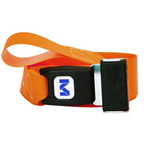 Restraint Strap, Impervious, 9 ft, 1 Piece, with Metal 2 in Double D Rings