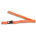 BioThane G1 Restraint Straps, 2pc, 7 ft, Metal Loop Ends, Metal Push Button Buckle, Orange