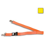 BioThane G1 Restraint Straps, 2pc, 7 ft, Metal Loop Ends, Metal Push Button Buckle, Yellow