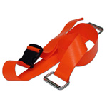 BioThane G1 Restraint Strap, 2 pc, 5ft, Metal Loop Ends, Plastic Side Release Buckle, Orange
